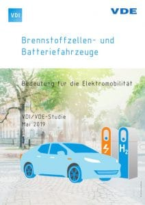 """Cover of the VDI/VDE study """"Fuel Cell and Battery Vehicles"""""""