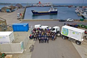 Fuel cell, MSUs and local ferry, at Kirkwall Pier,